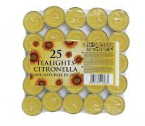 Price's Candles Tealights Pack 25 - Citronella
